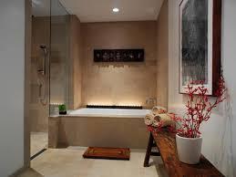 Teak Floor Mat Modern Zen Bathroom With Wooden Bench And Teak Mat Create A Zen
