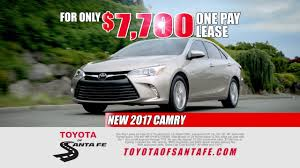 dealer toyota 1 pay drive away camry lease at toyota of santa fe new mexico