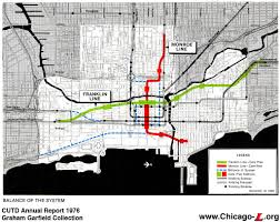 Chicago Line Map by Chicago U0027 U0027l U0027 U0027 Org Transit Plans Chicago Central Area Transit
