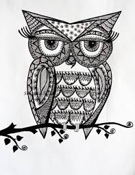 doodle owls to coloring pesquisa do google coloring for adults