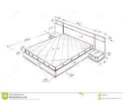 28 interior drawing interior design 187 04 perspective interior drawing modern interior design bed freehand drawing royalty free