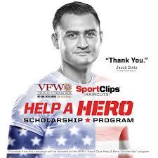 salute those who serve through sport clips haircuts u0027 u201chelp a hero