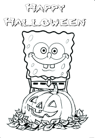 Halloween Preschool Printables Printable Halloween Spongebob Coloring Pagesfree Printable