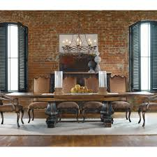 Brown Dining Room Table Belham Living Kennedy Trestle Extension Dining Table Hayneedle