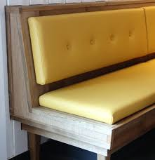 Upholstered Dining Bench Yellow Banquette Bench Dining Benches And Banquettes Corner