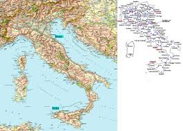 Map Of Italy Regions by Small Road Map Of Italy Italy Small Road Map Vidiani Com Maps