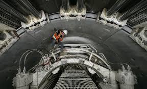 climb inside the massive tunnel 60 feet below downtown l a los