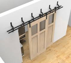 Diy Barn Doors by Bypass Sliding Barn Wood Door Hardware Black Rustick Barn Sliding