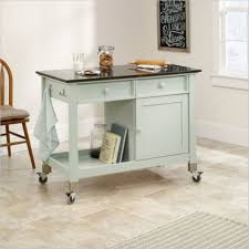 chic mobile kitchen island bench with stainless steel double hook