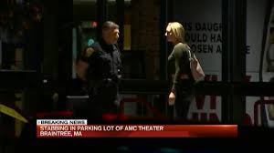 2 stabbed in parking lot of amc theater necn