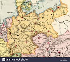 Map Germany by Original Old Map Of Germany From 1875 Geography Textbook Stock