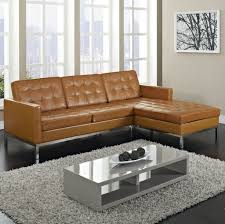 Buy Sectional Sofa by Furniture Vintage Brown Tufted Leather Affordable Sectional Couch