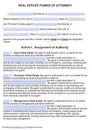 General Power Of Attorney Arizona by Real Estate Power Of Attorney Form Pdf Templates Power Of