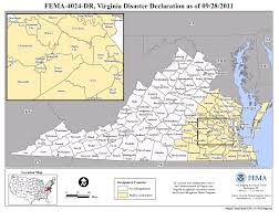 Map Of Virginia Counties And Cities by Virginia Hurricane Irene Dr 4024 Fema Gov