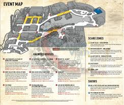 halloween horror nights peak nights halloween horror nights 2015 map revealed