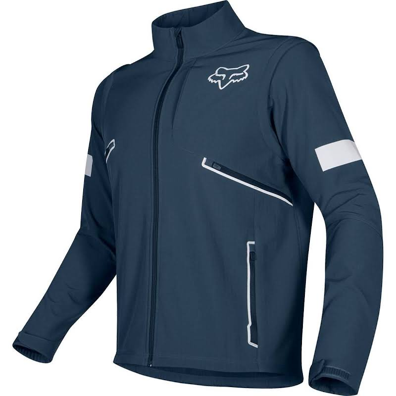Fox Racing Convertible Legion Softshell 3-Layer Jacket Wind/Water Resistant Navy Large 21890-007-L