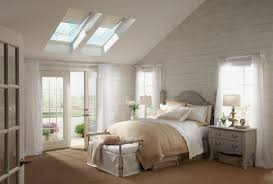 bedroom interesting bedroom design with velux skylights and roman