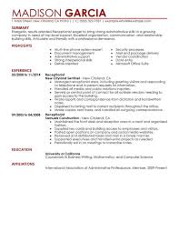 Sample Of Resume Skills And Abilities by Unforgettable Receptionist Resume Examples To Stand Out