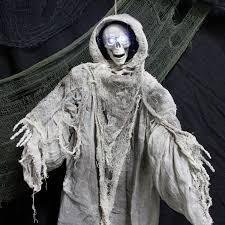 animatronic halloween props halloween haunters 3 foot animated hanging death reaper prop