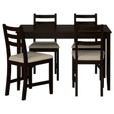 LERHAMN Table And  Chairs IKEA - Black dining table for 4
