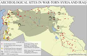 Iraq Syria Map by Archeological Sites In War Torn Syria And Iraq