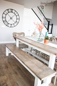 Dining Room Table Pictures Diy Farmhouse Table And Bench Diy Farmhouse Table Farmhouse