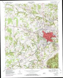 State Of Tennessee Map by Mcminnville Topographic Map Tn Usgs Topo Quad 35085f7