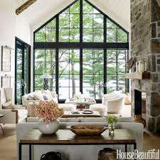 Modernist Interior Design Home Tour Anne Hepfer U0027s Rustic Modern Lake House Modern Rustic