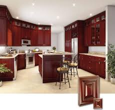 Kitchen Cabinets Mahogany Mesmerizing Brown Wooden Kitchen Cabinets Come With Wall Mounted