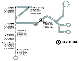 T Boston Map by Seating Chart Boston Silver Line Wedding Seating Chart