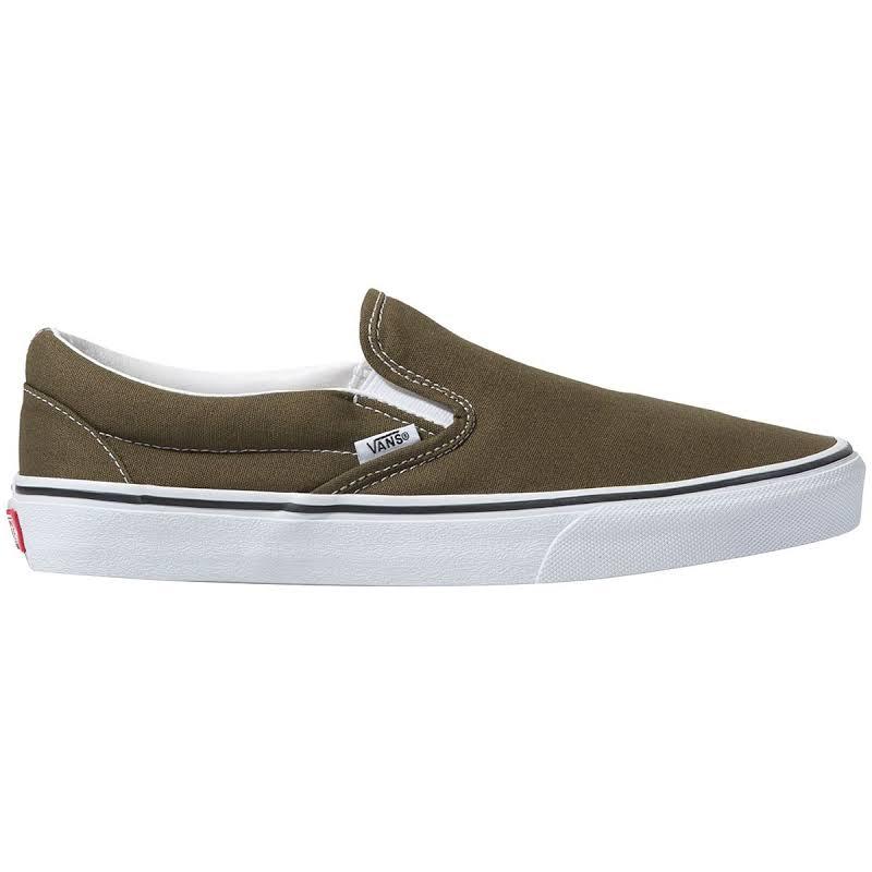 Vans Classic Slip-On (Beech/True White) Skate Shoes-11