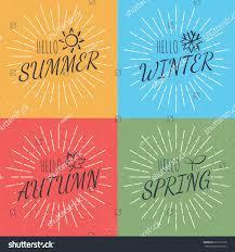 Texture Design Hello Four Season Vector Calligraphy Style Stock Vector 519192178