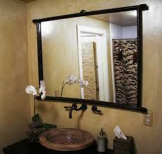 Mirror Ideas For Bathroom by Simple Wooden Style Bathroom Mirror Ideas Howiezine