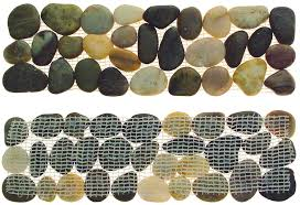 great ideas garden border pebble strips also for tiled bathroom