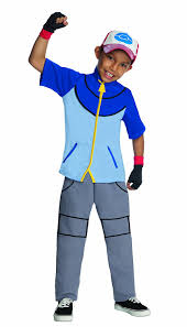 party city halloween ninja costumes amazon com pokemon child u0027s deluxe ash costume one color small