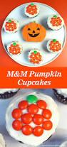 easy m u0026m pumpkin cupcakes two sisters crafting
