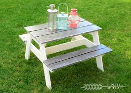 Free Wooden Picnic Table Plans by Best 25 Kids Picnic Table Plans Ideas On Pinterest Kids Picnic