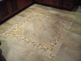 Kitchen Floor Ideas Pictures Porcelain Tile With Decorative Inlay For A Kitchen Area