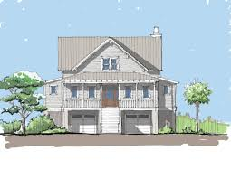 elevated house plans elevated beach cottage house plans plan