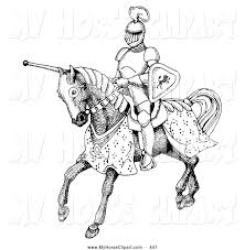 royalty free stock horse designs of knights