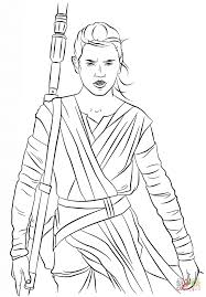 rey from the force awakens coloring page free printable coloring