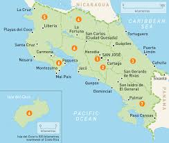 Map Of South America And Caribbean by Map Of Costa Rica Costa Rica Regions Rough Guides Rough Guides