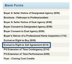 mandatory use of current exclusive right to sell contract
