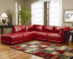 Modern Living Room Furniture Ideas Warm Red Leather Sectional L Shaped Sofa Design Ideas For Living