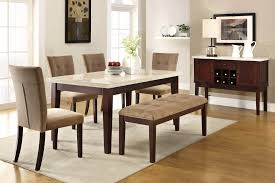 dining room best 6 piece rubberwood dining set with faux marble