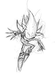 super sonic coloring pages fleetway super sonic sketch by morgoth883 on deviantart