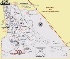 Southern Colorado Map by Fort Carson Gate 19