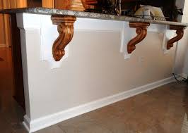 Add Kitchen Island Modified Bar Corbels Add Elegant Touch To Contemporary Kitchen