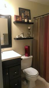 small bathroom with earth tone color scheme ourhandiwork