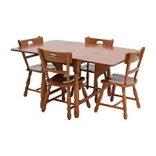 83 off maple dining table with four matching chairs tables